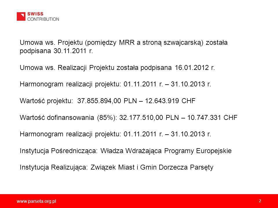 Umowa ws. Realizacji Projektu została podpisana 16.01.2012 r.