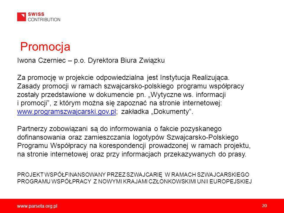 Promocja Iwona Czerniec – p.o. Dyrektora Biura Związku