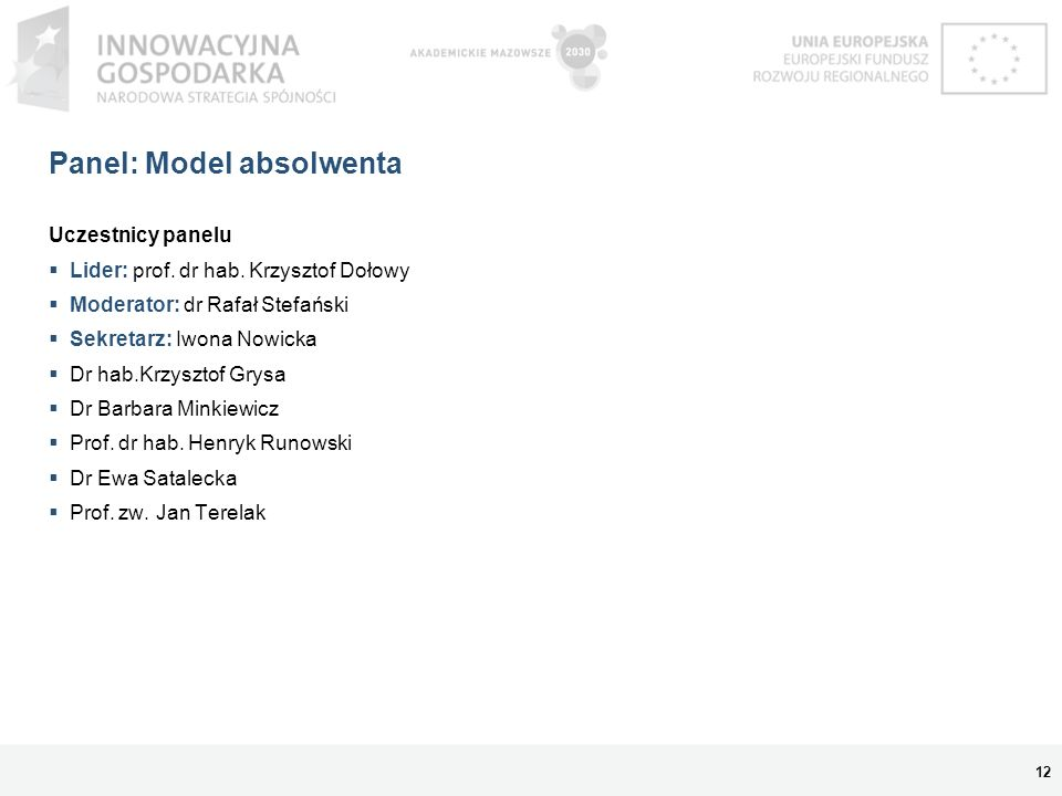 Panel: Model absolwenta