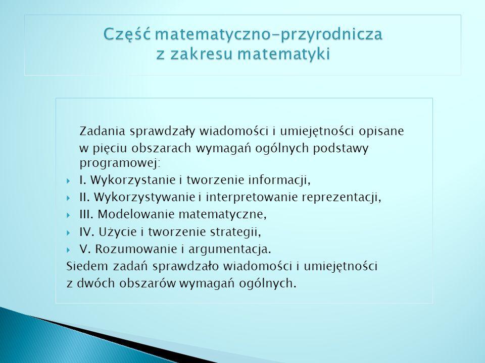 Część matematyczno-przyrodnicza z zakresu matematyki