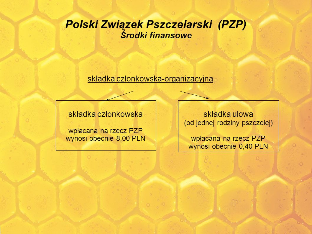 Polski Związek Pszczelarski (PZP) Środki finansowe