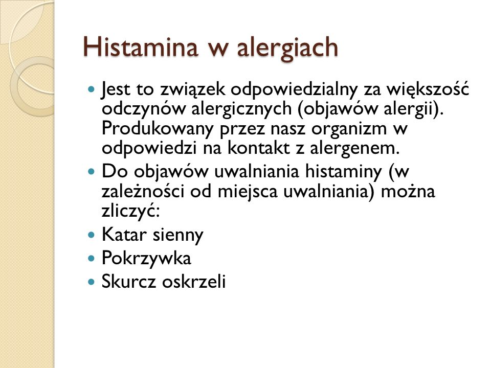 Histamina w alergiach