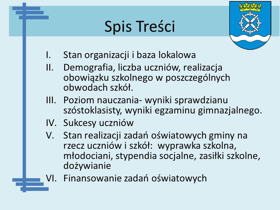 Spis Treści Stan organizacji i baza lokalowa