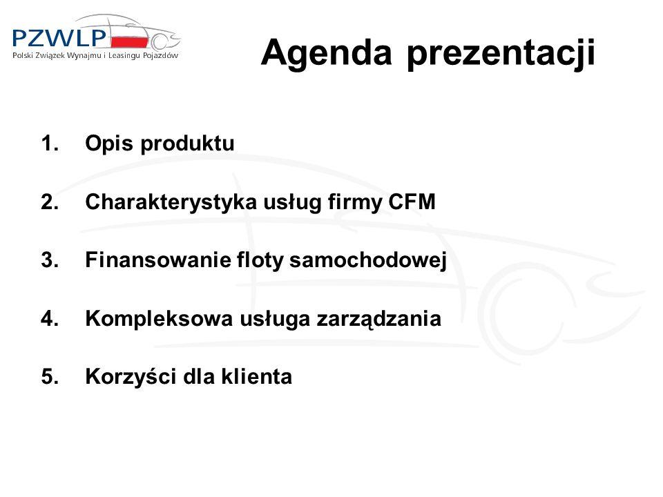 Agenda prezentacji Opis produktu Charakterystyka usług firmy CFM