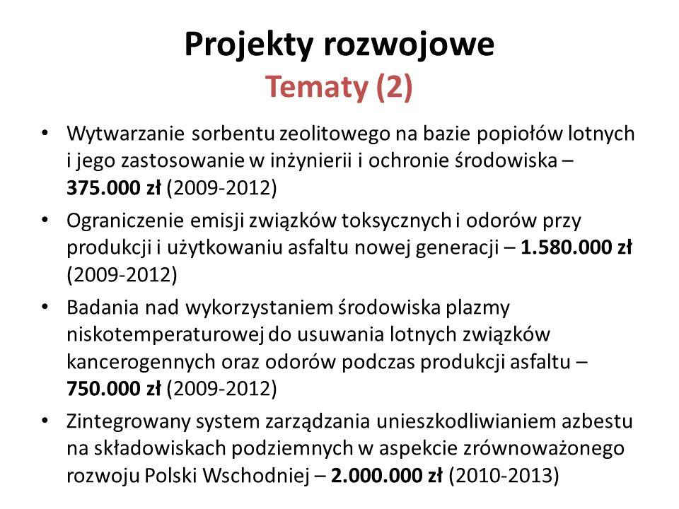 Projekty rozwojowe Tematy (2)