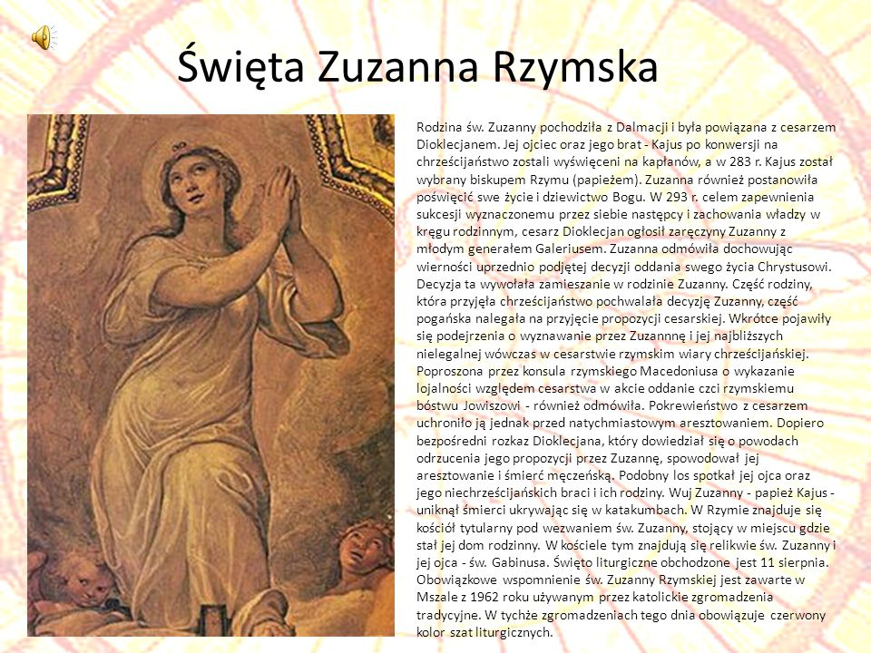 Święta Zuzanna Rzymska