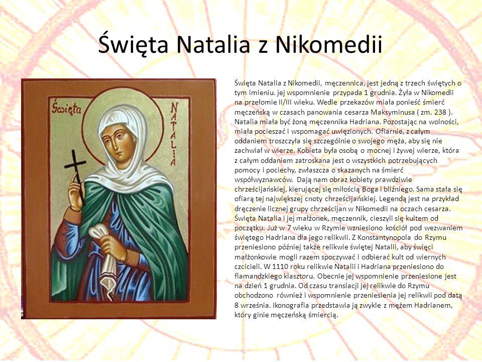 Święta Natalia z Nikomedii