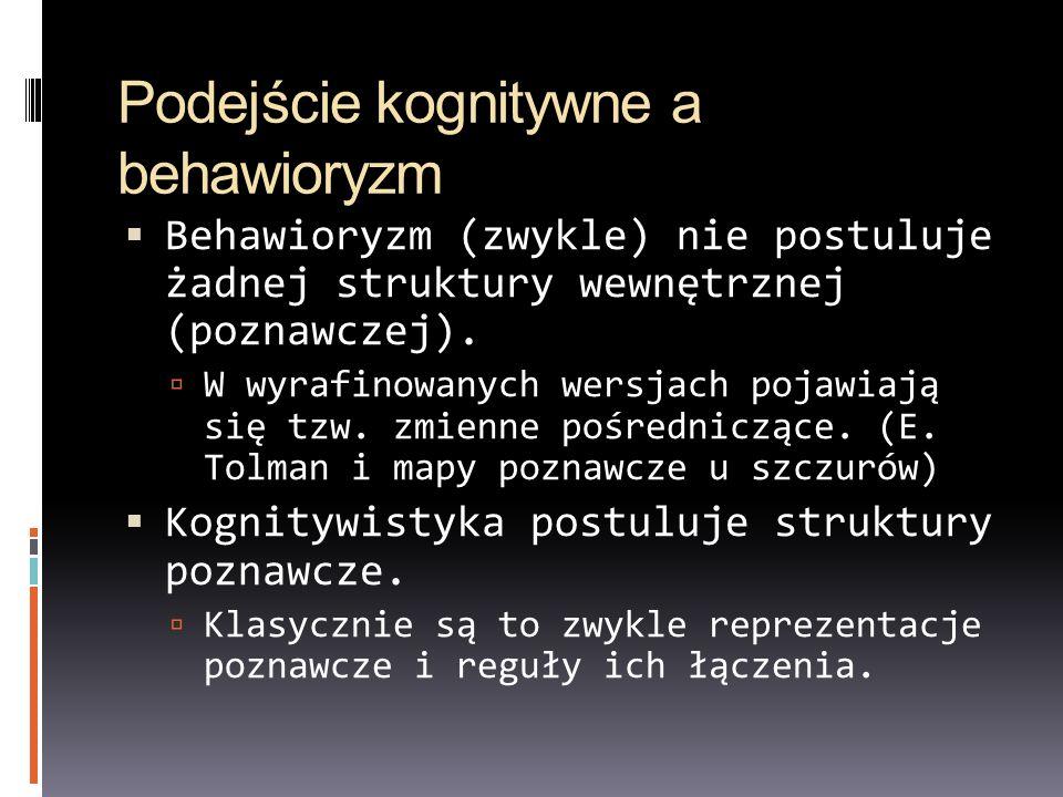 Podejście kognitywne a behawioryzm