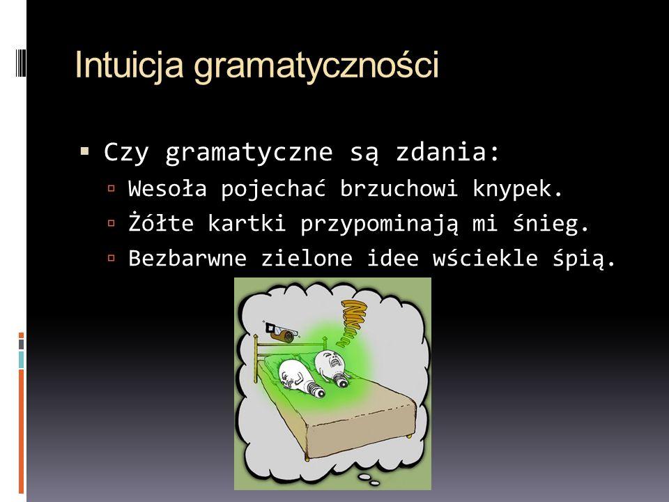 Intuicja gramatyczności