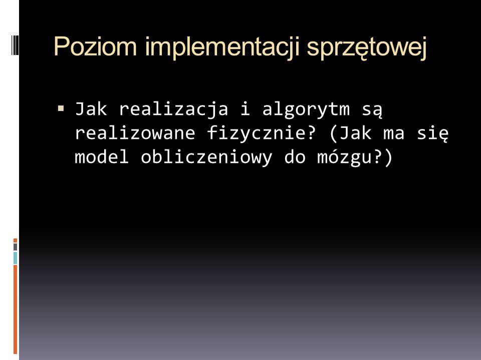 Poziom implementacji sprzętowej