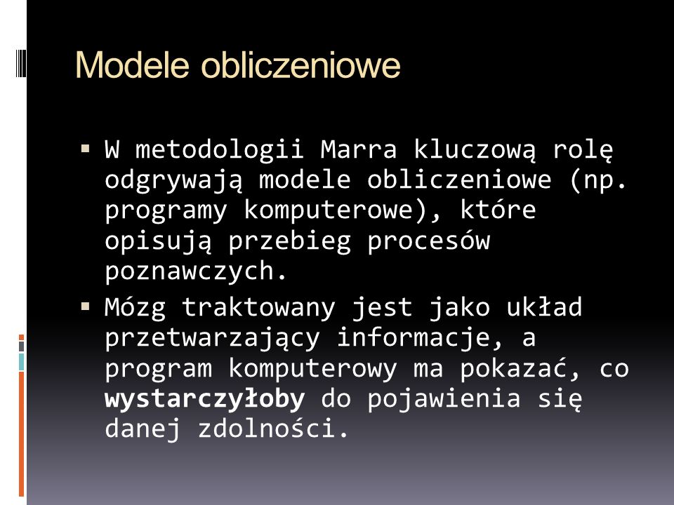 Modele obliczeniowe
