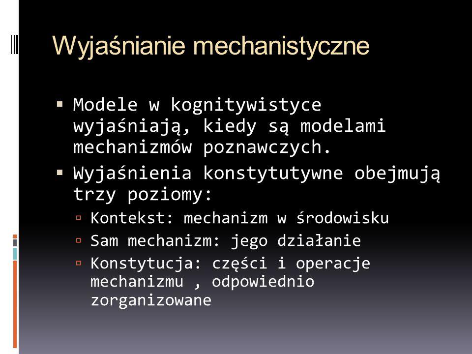 Wyjaśnianie mechanistyczne