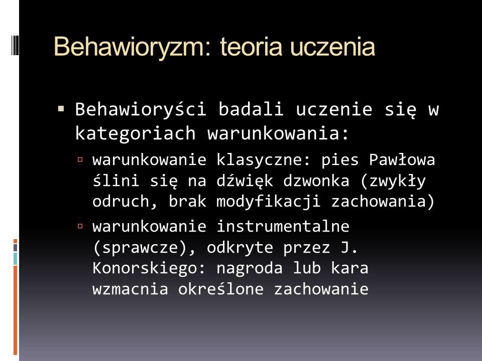 Behawioryzm: teoria uczenia