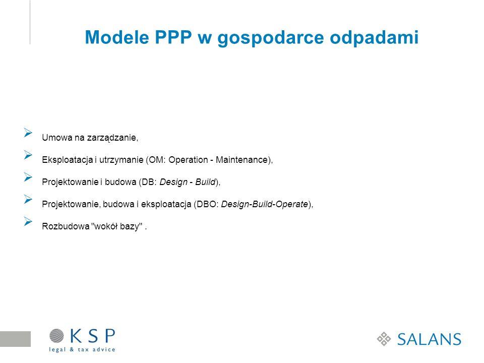 Modele PPP w gospodarce odpadami
