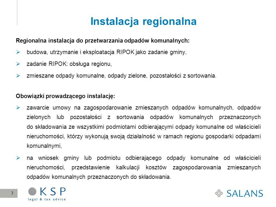 Instalacja regionalna