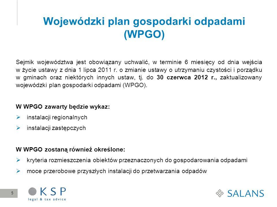 Wojewódzki plan gospodarki odpadami (WPGO)