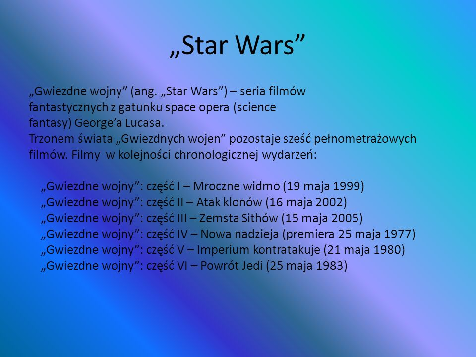 """Star Wars"