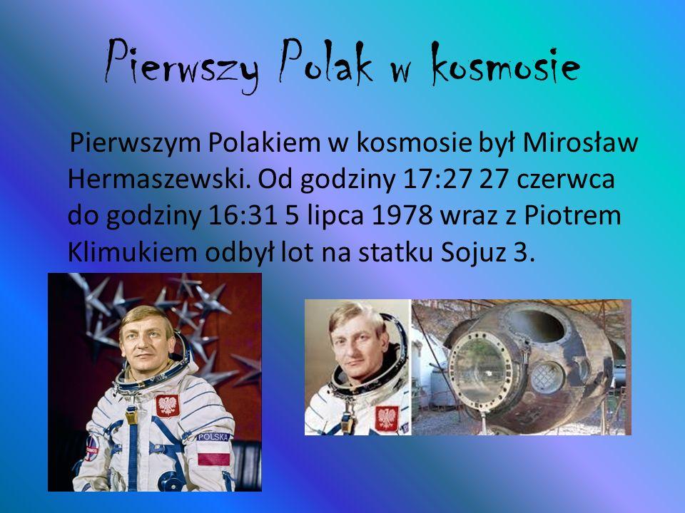 Pierwszy Polak w kosmosie