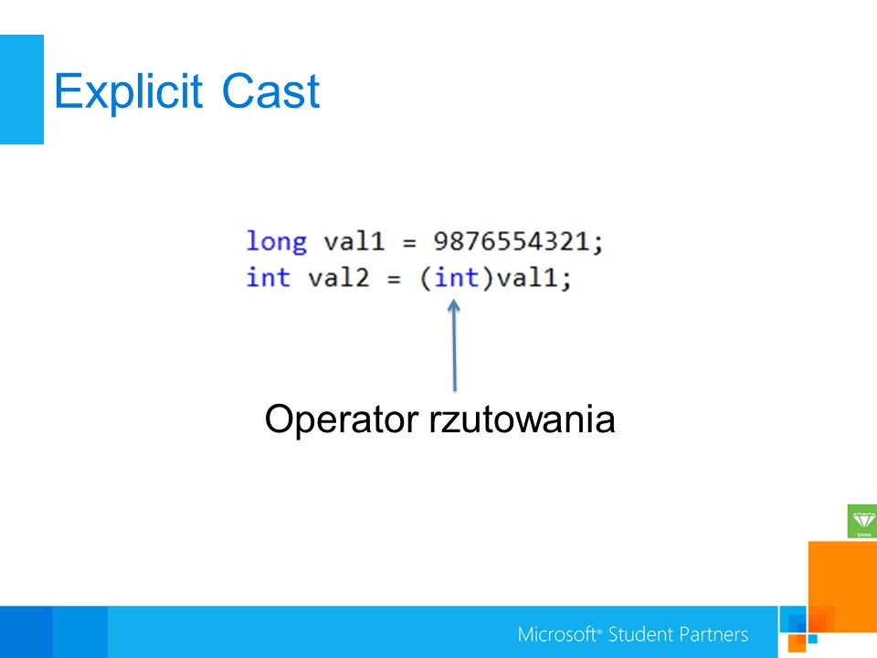 Explicit Cast Operator rzutowania