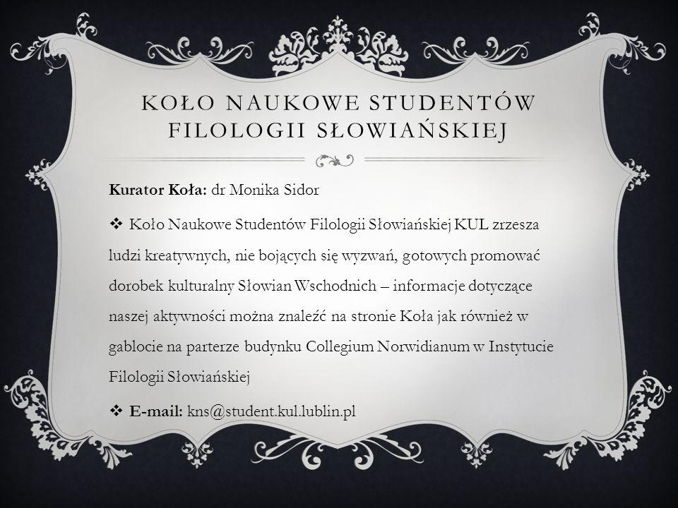 Koło Naukowe Studentów Filologii Słowiańskiej