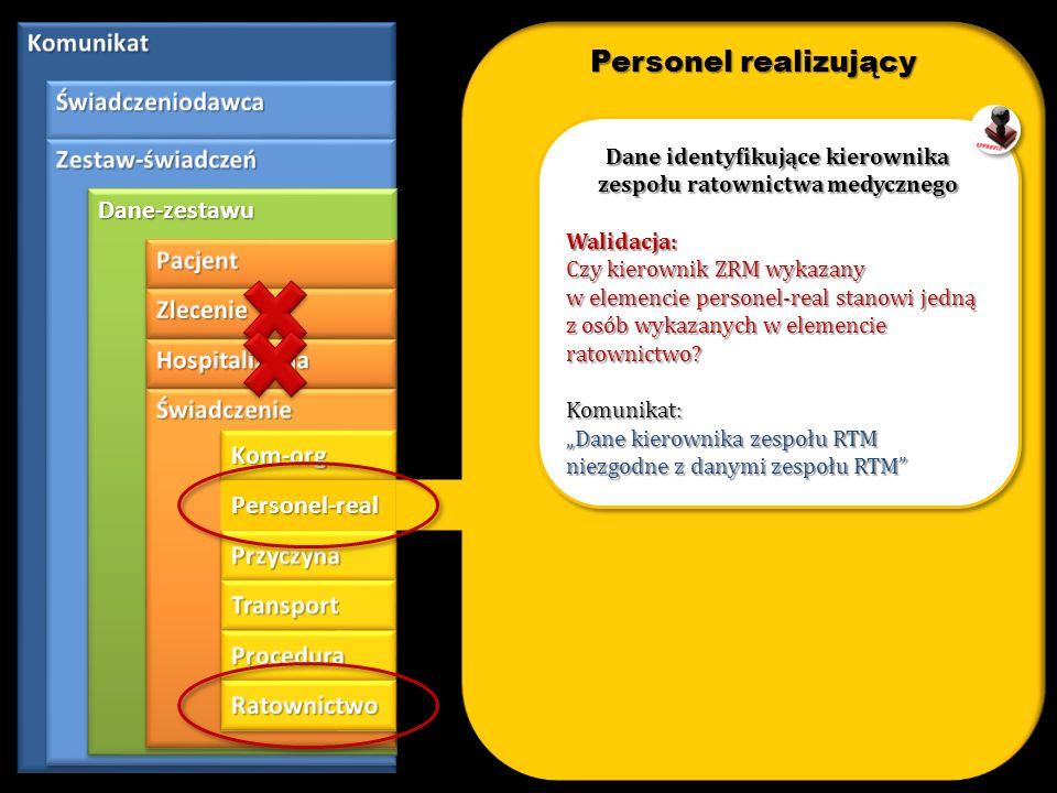 Dane identyfikujące kierownika zespołu ratownictwa medycznego