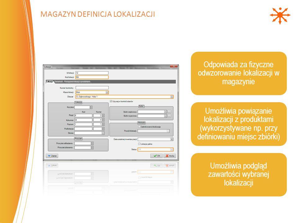 Magazyn definicja Lokalizacji