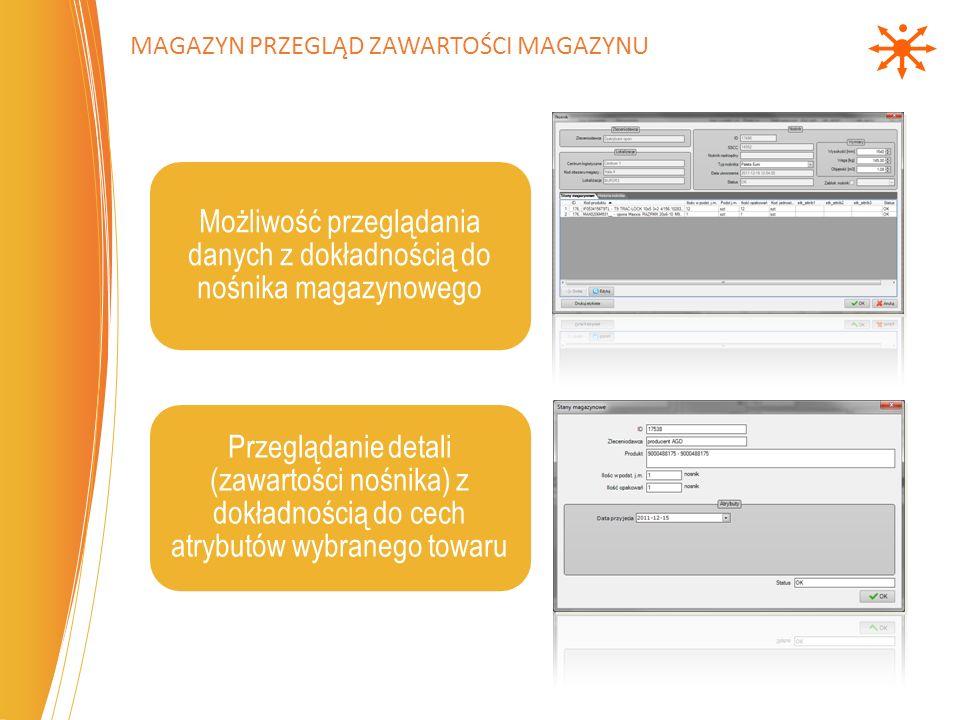 Magazyn przegląd zawartości magazynu