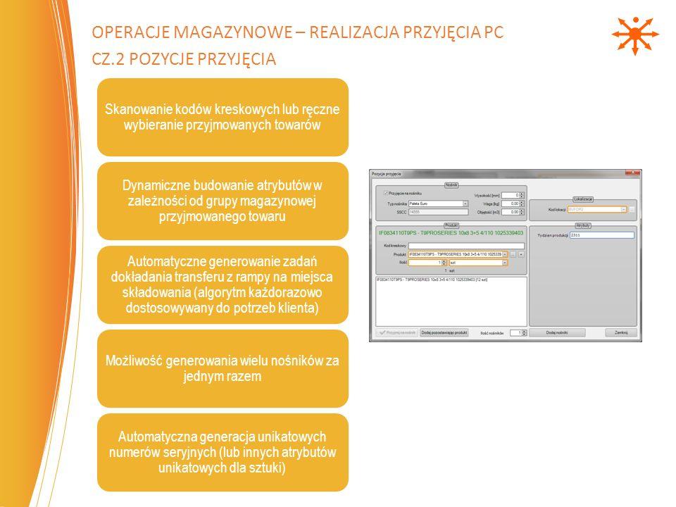 Operacje magazynowe – Realizacja Przyjęcia PC cz.2 pozycje przyjęcia