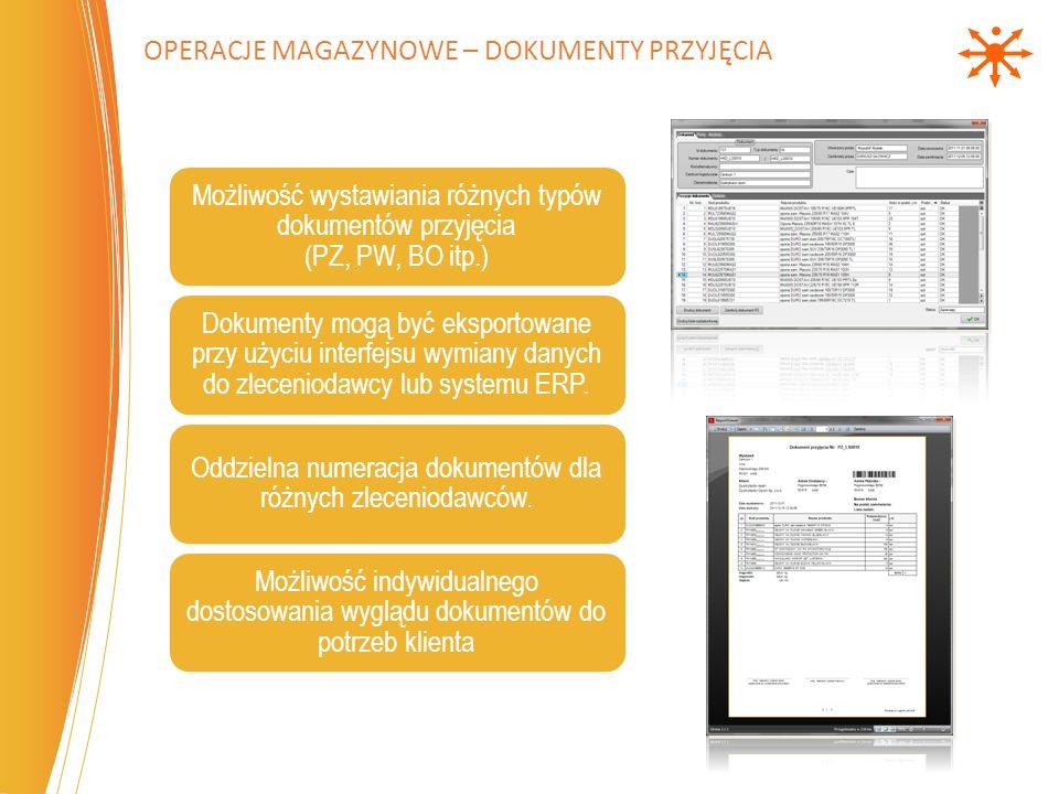 Operacje magazynowe – dokumenty przyjęcia