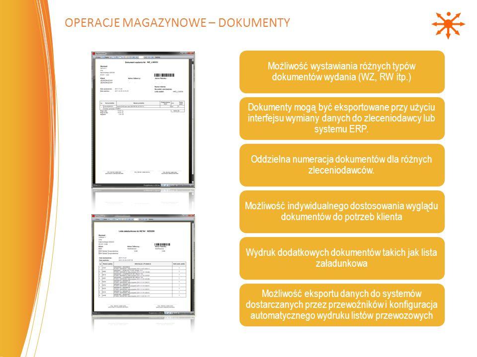 Operacje magazynowe – Dokumenty