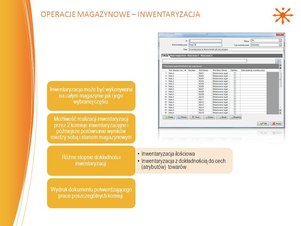 Operacje magazynowe – Inwentaryzacja