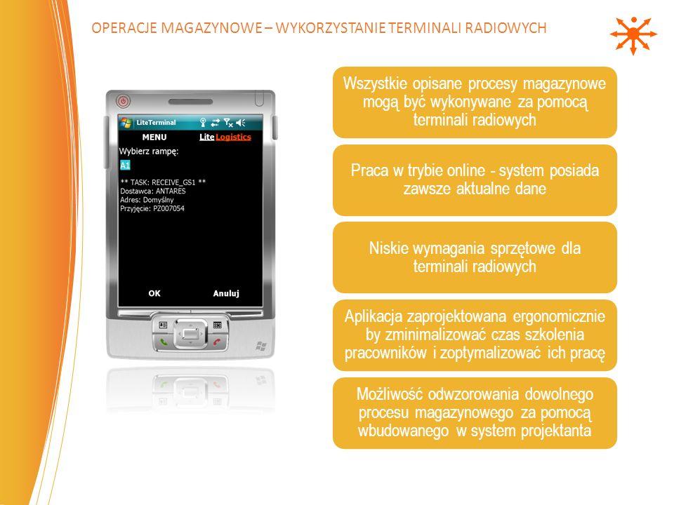 Operacje magazynowe – wykorzystanie terminali radiowych
