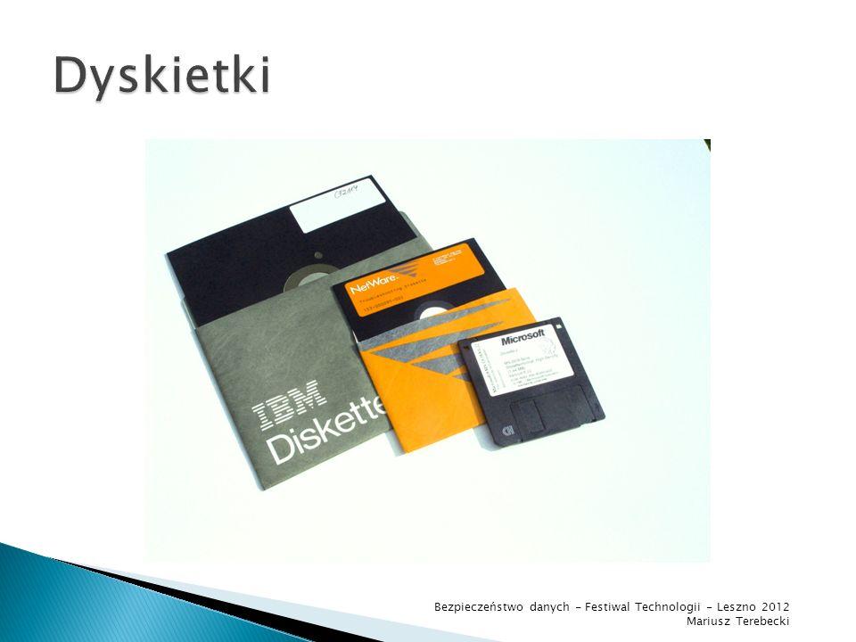 Dyskietki Bezpieczeństwo danych - Festiwal Technologii - Leszno 2012
