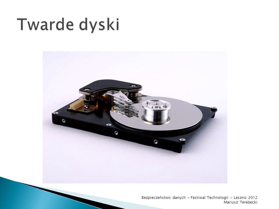 Twarde dyski Bezpieczeństwo danych - Festiwal Technologii - Leszno 2012 Mariusz Terebecki