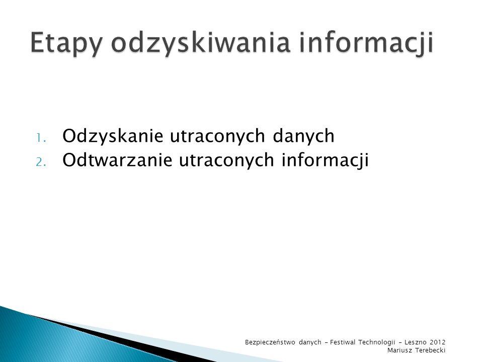 Etapy odzyskiwania informacji