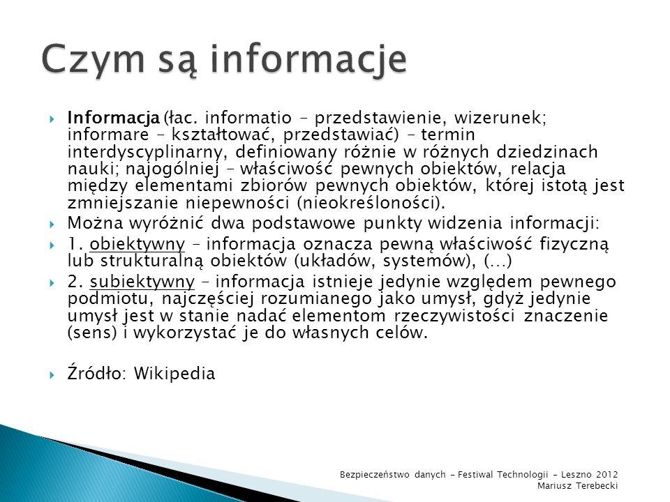 Czym są informacje