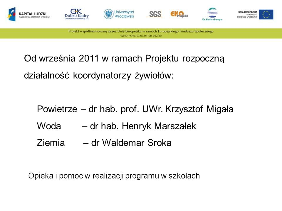 Powietrze – dr hab. prof. UWr. Krzysztof Migała