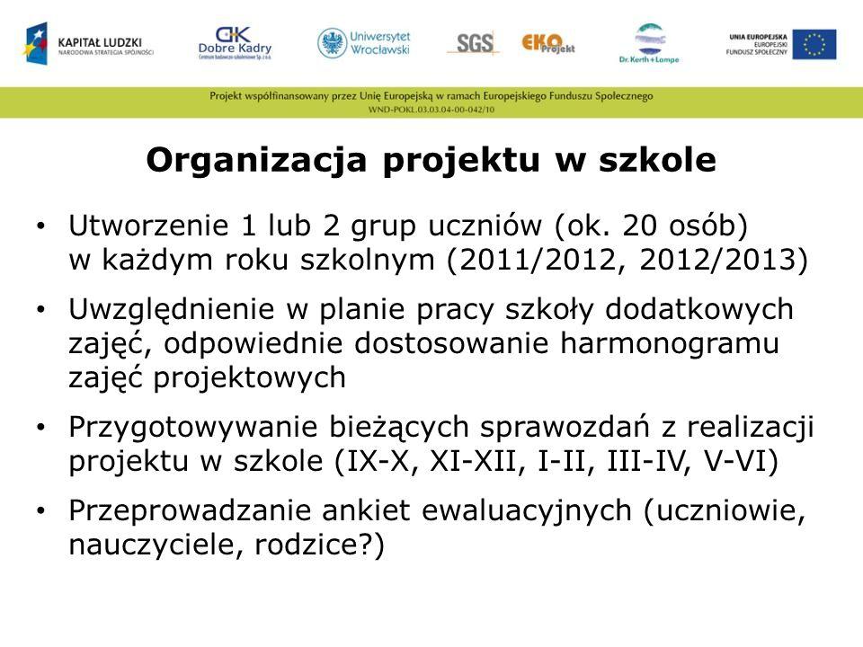 Organizacja projektu w szkole