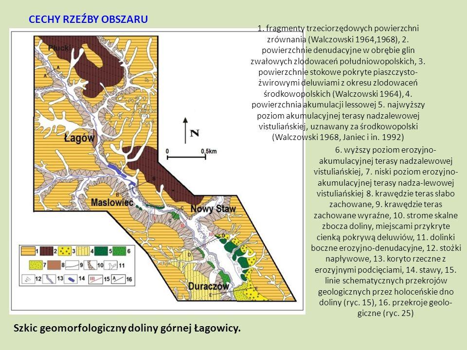 Szkic geomorfologiczny doliny górnej Łagowicy.