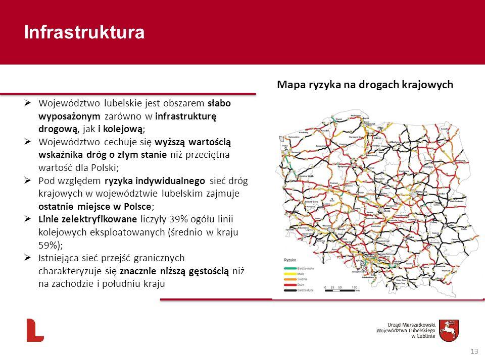 Infrastruktura Mapa ryzyka na drogach krajowych