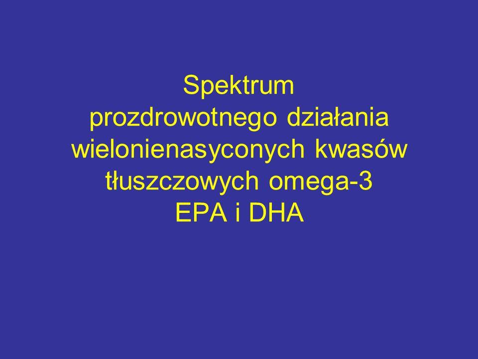 Spektrum prozdrowotnego działania wielonienasyconych kwasów tłuszczowych omega-3 EPA i DHA