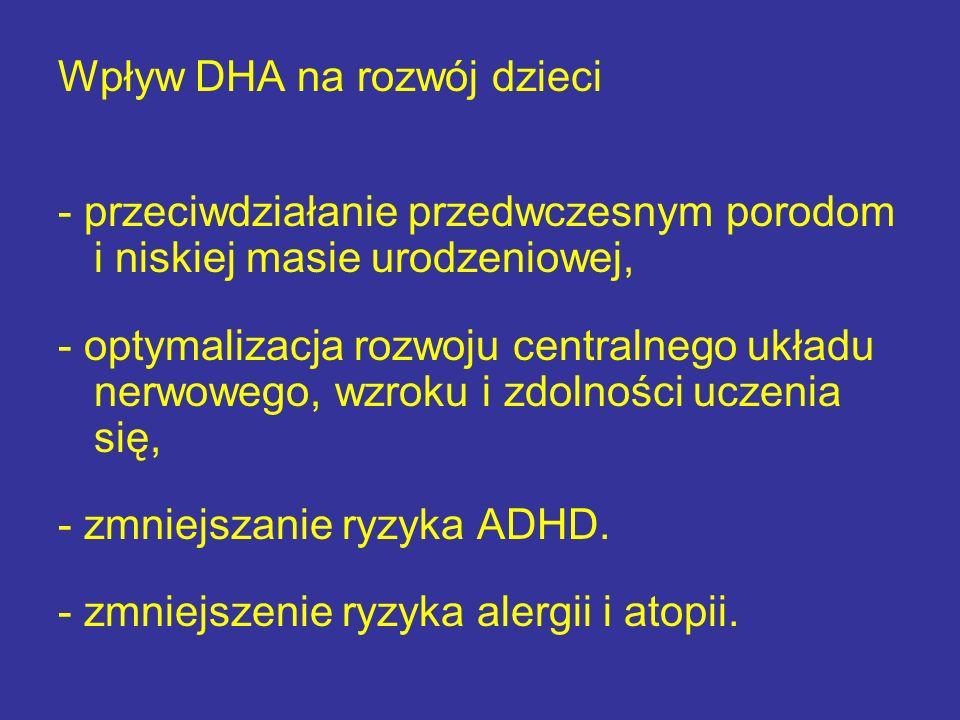 Wpływ DHA na rozwój dzieci