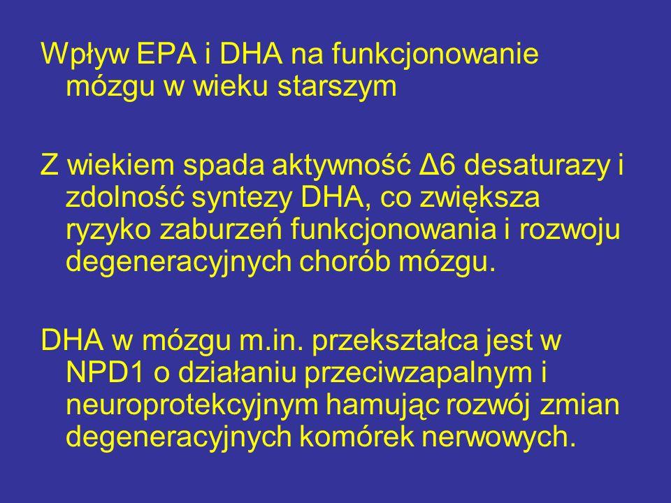 Wpływ EPA i DHA na funkcjonowanie mózgu w wieku starszym