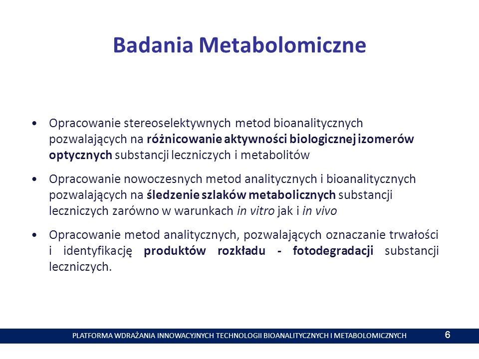 Badania Metabolomiczne