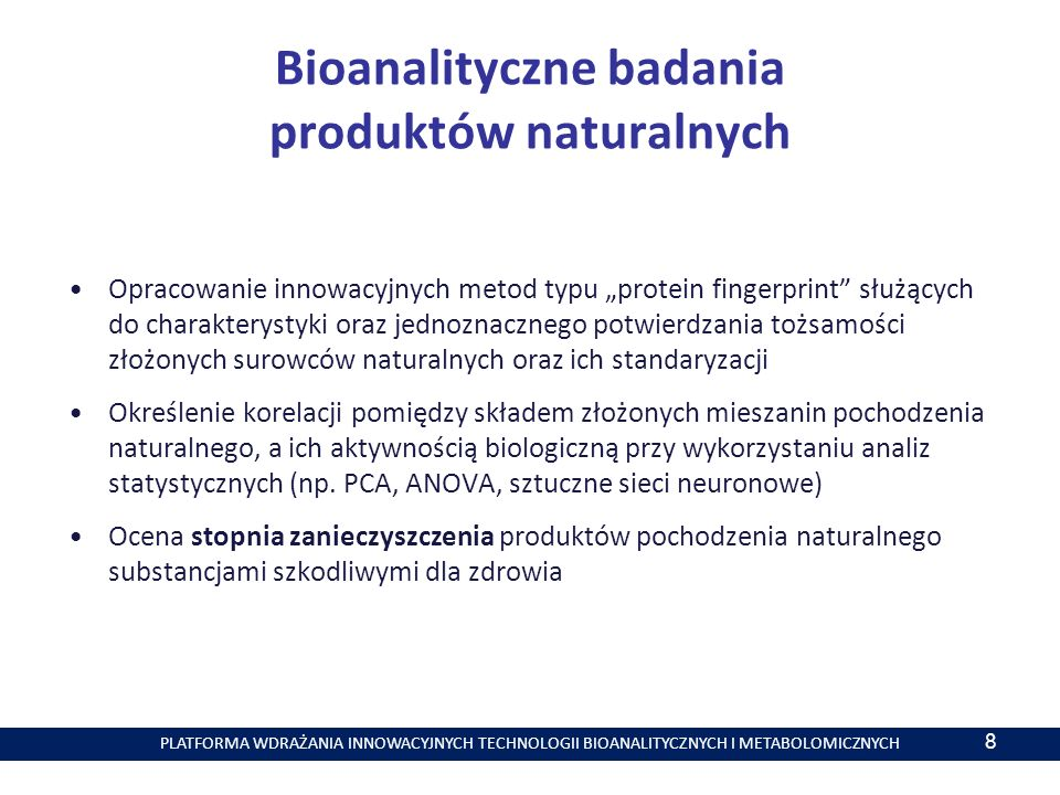 Bioanalityczne badania produktów naturalnych