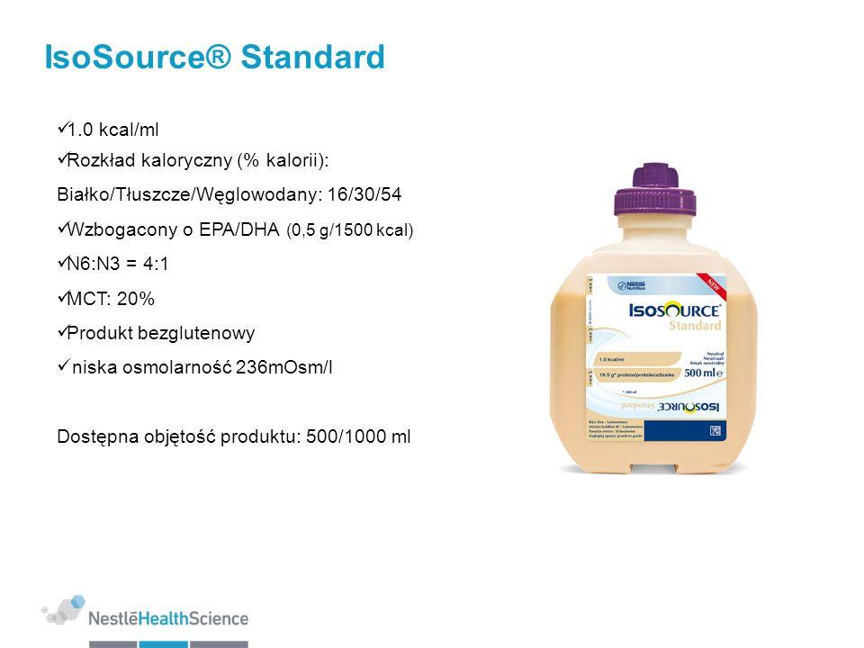 IsoSource® Standard 1.0 kcal/ml Rozkład kaloryczny (% kalorii):