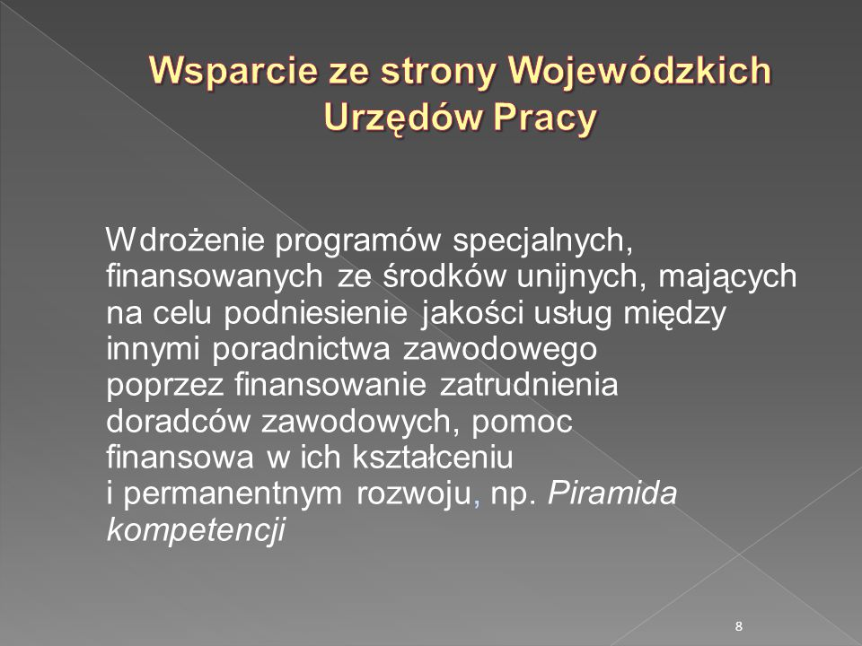 Wsparcie ze strony Wojewódzkich Urzędów Pracy