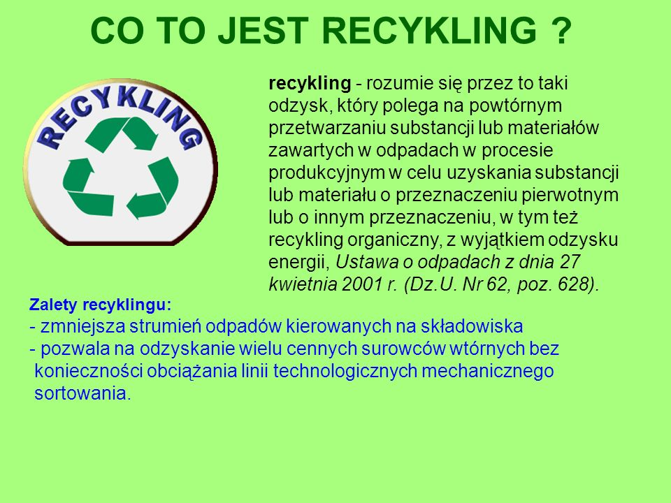 CO TO JEST RECYKLING