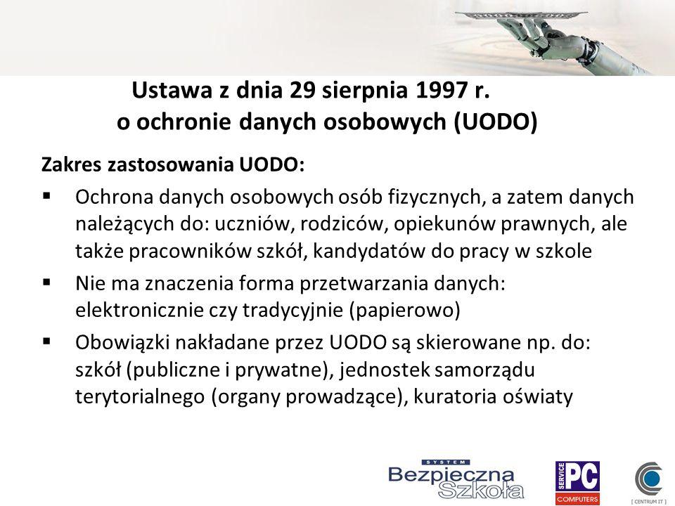 Ustawa z dnia 29 sierpnia 1997 r. o ochronie danych osobowych (UODO)