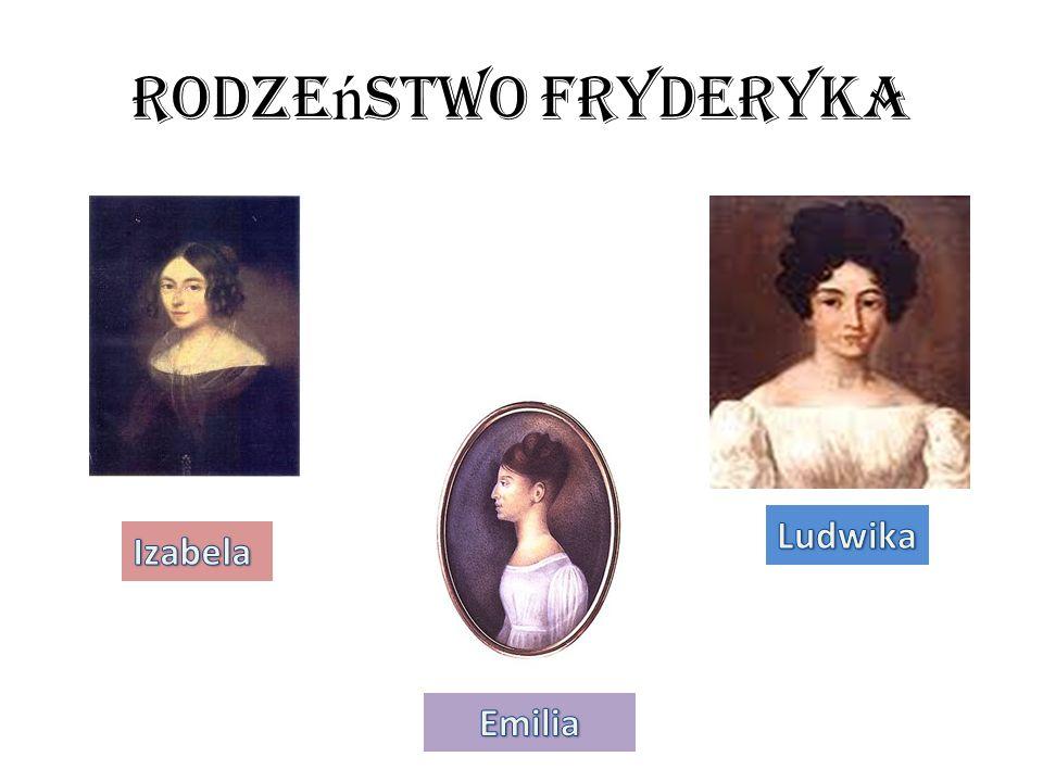 Rodzeństwo Fryderyka Ludwika Izabela Emilia